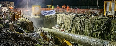 Harbour crossing pipeline installation progressing well