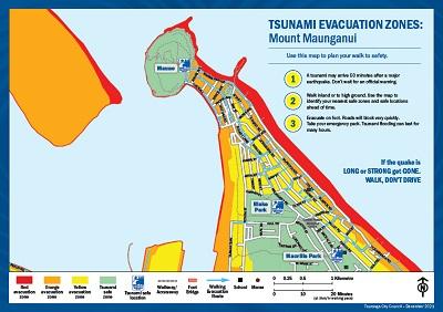 Tsunami evacuation zone maps Tauranga City Council