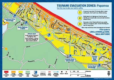 Papamoa map