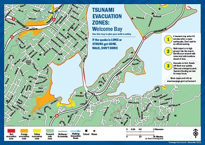 Welcome bay map
