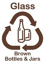 Glass brown bottles