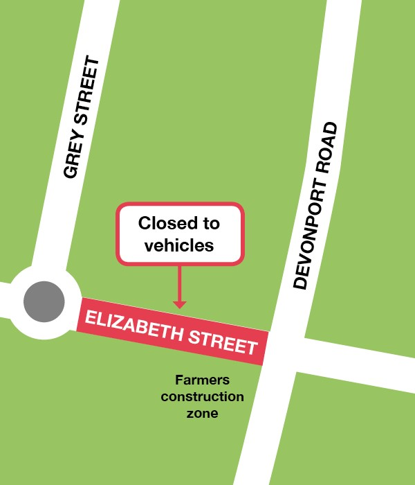 Farmers construction zone road closure map