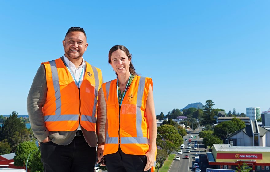 Josh Te Kani and Sarah Swan