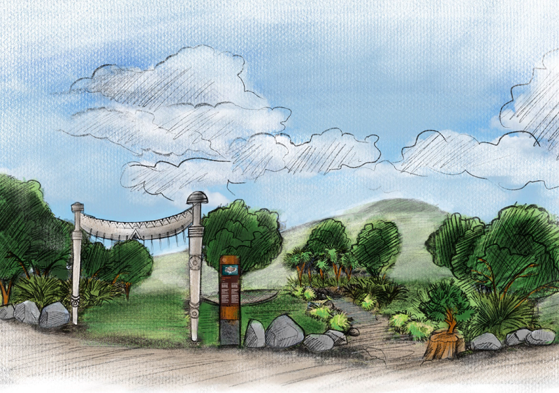 Concept sketch of Mount Maunganui