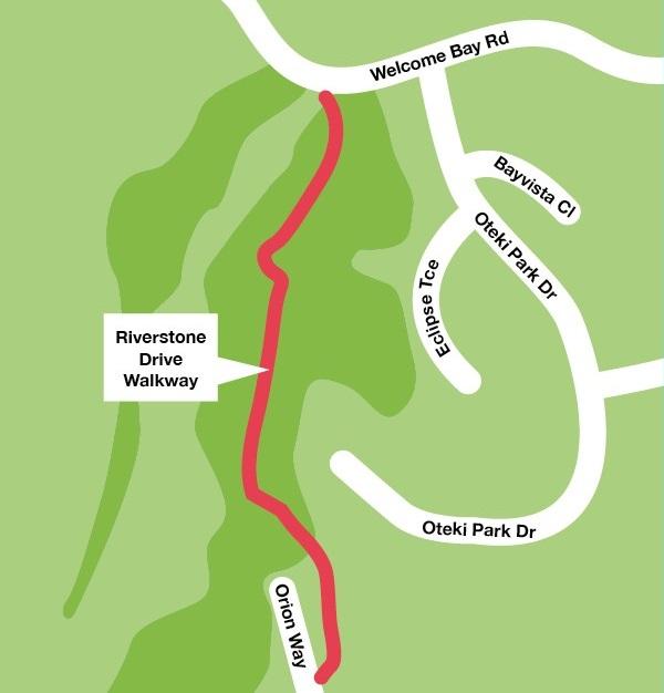 Riverstone Drive Walkway Closure Map