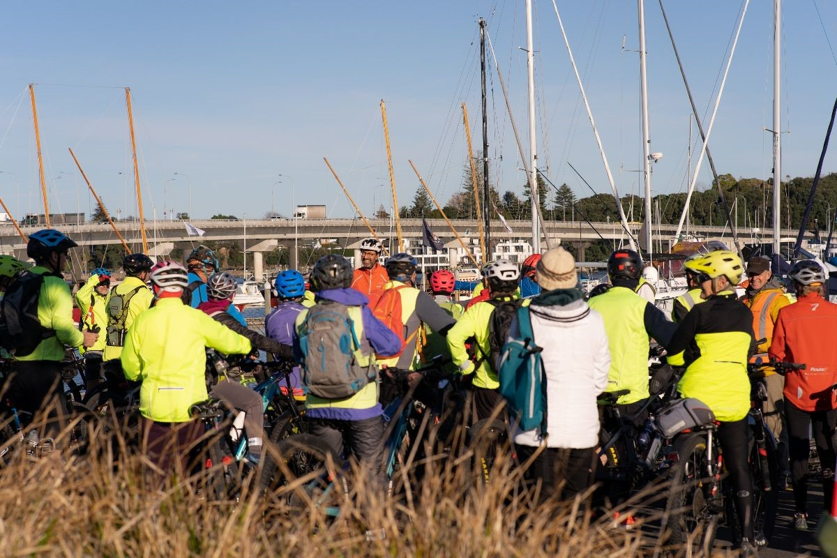 Welcome Bay Wheelers cycle group who attended the Blindzone demonstration today.