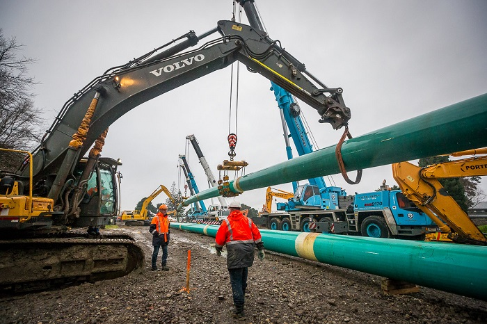 Southern pipeline imagery July 2018