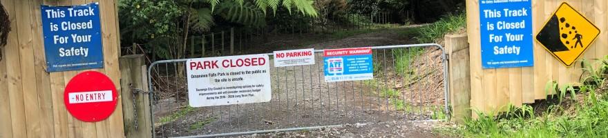 Omanawa Falls Park Closure