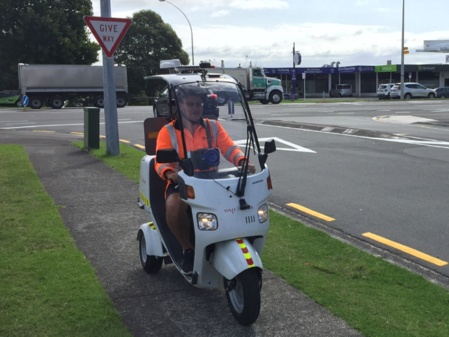 Footpath assessment scooter