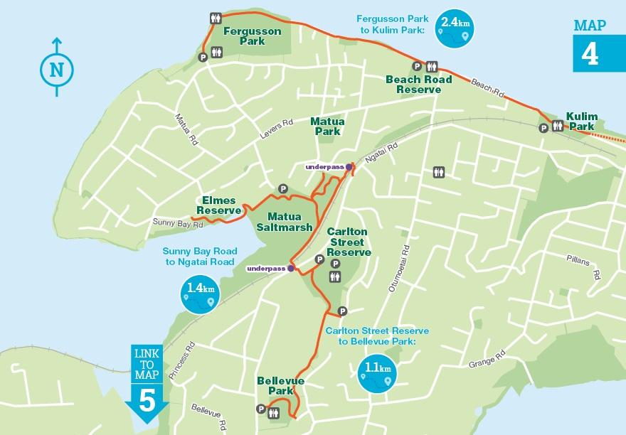 Otumoetai and matua reserves map