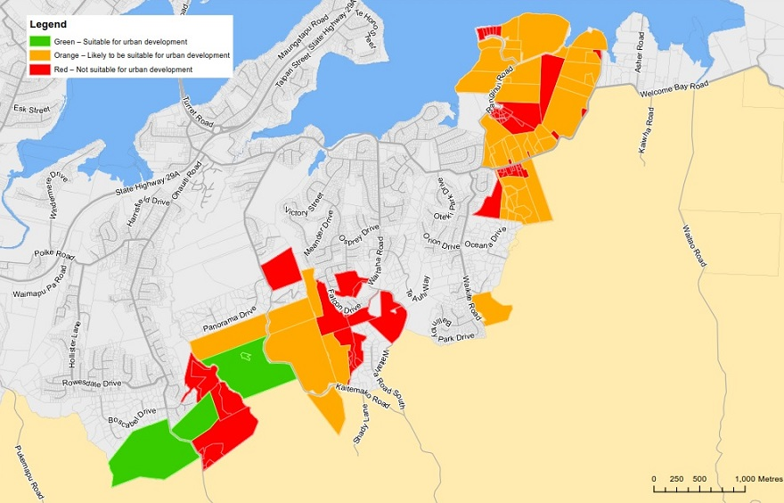 Welcome Bay and Ohauiti planning study map