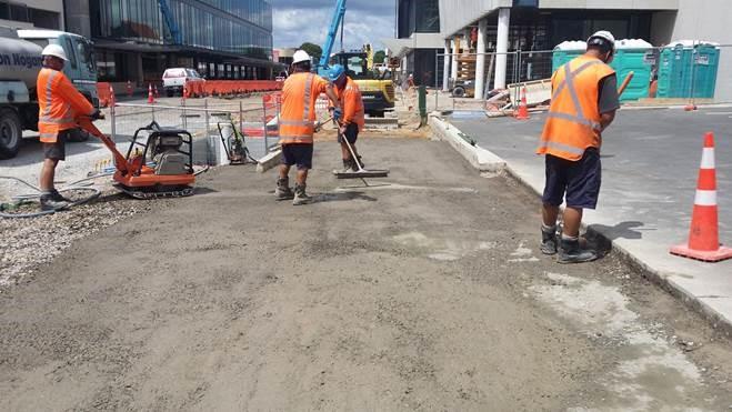 Preparing metal base of footpath