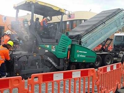 Durham Street - Asphalt being Laid