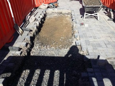 Durham Street - Foundation Work for Seating