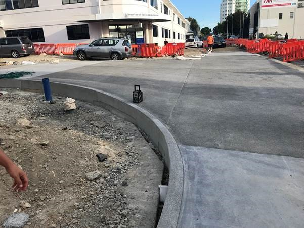 Progress at Durham Street and Spring Street intersection