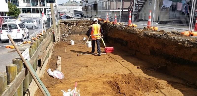 Durham Lane excavation site