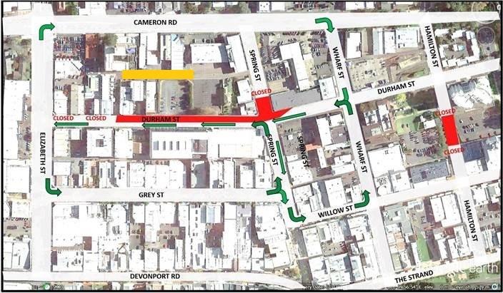 Durham Street map.