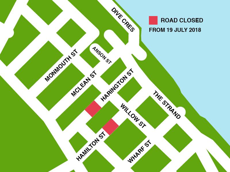 Harington road closure map