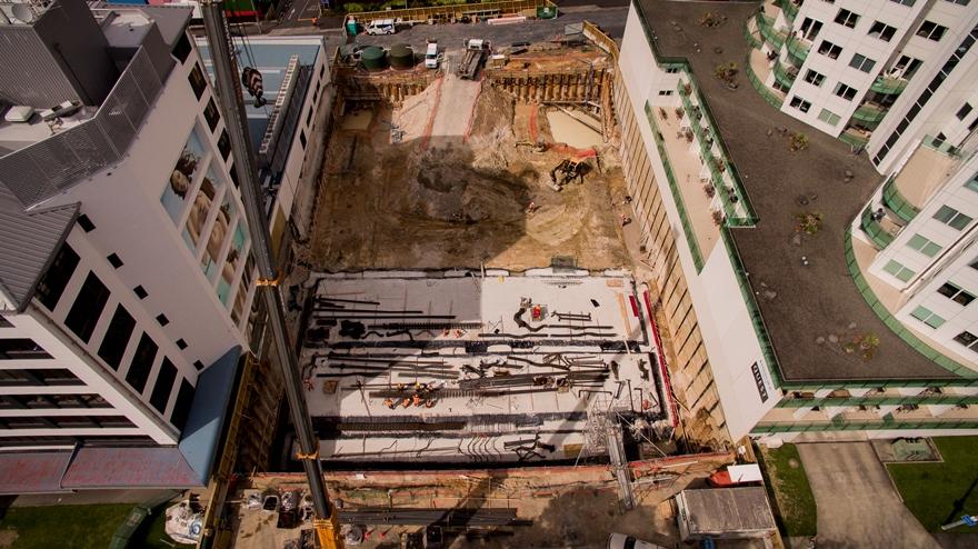 Harington Parking construction