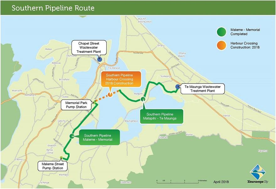Pipeline background Tauranga City Council
