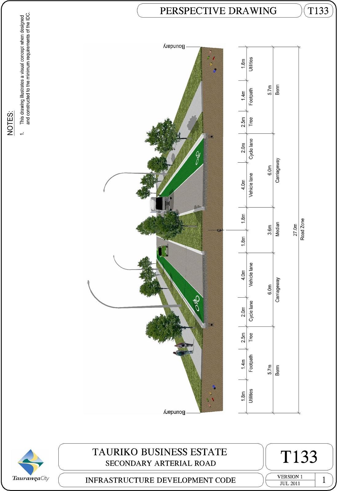 Tauriko Business Estate Secondary Arterial Road