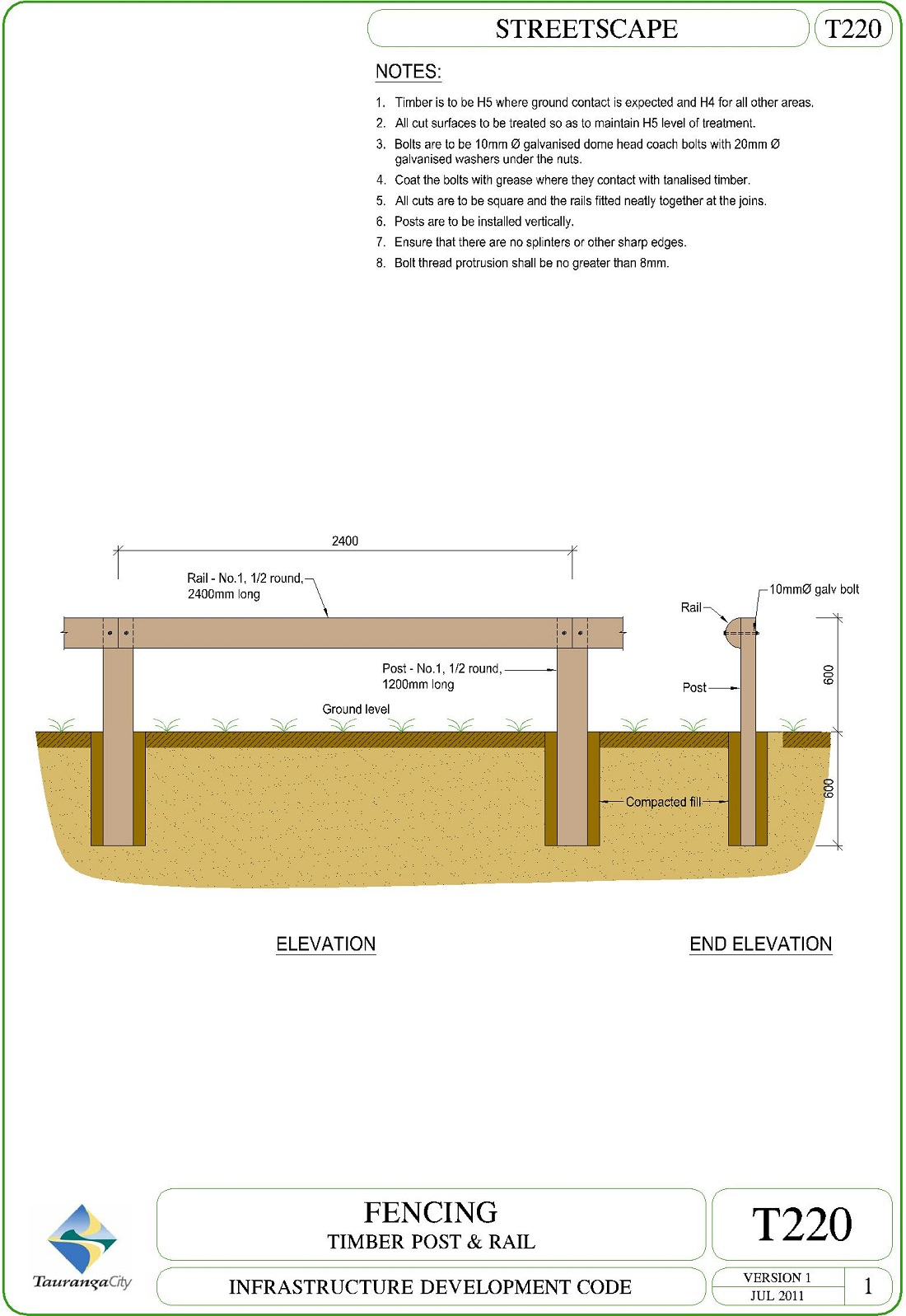 Fencing - Timber Post and Rail