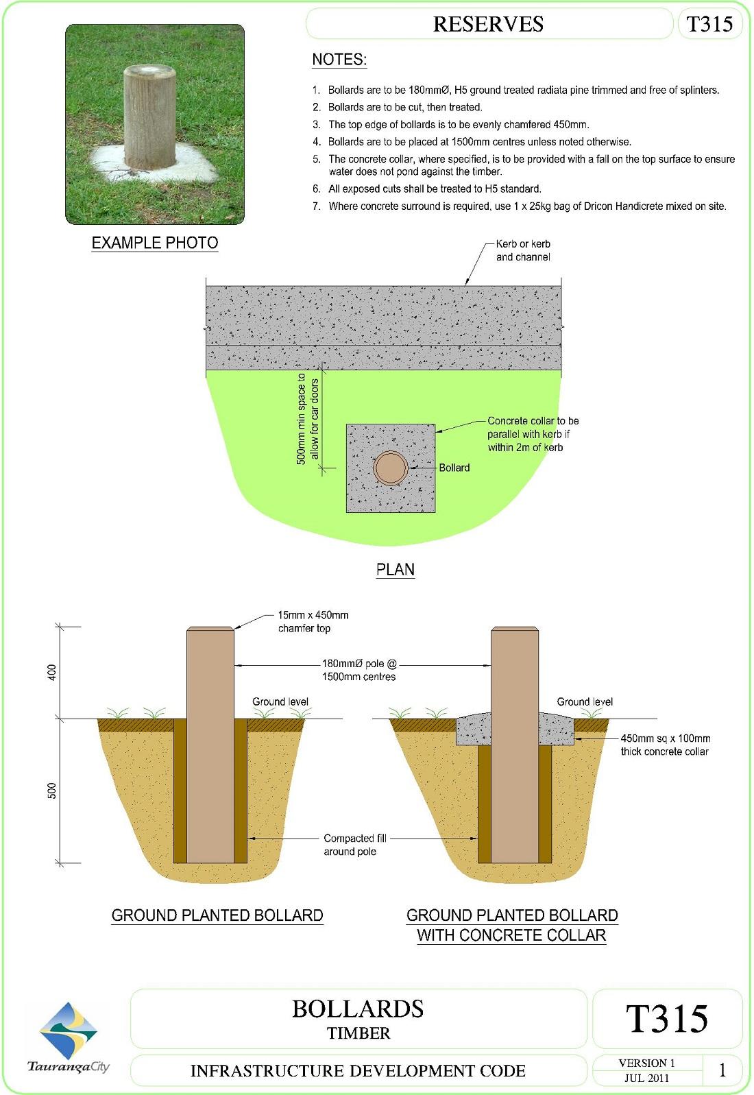 Bollards - Timber