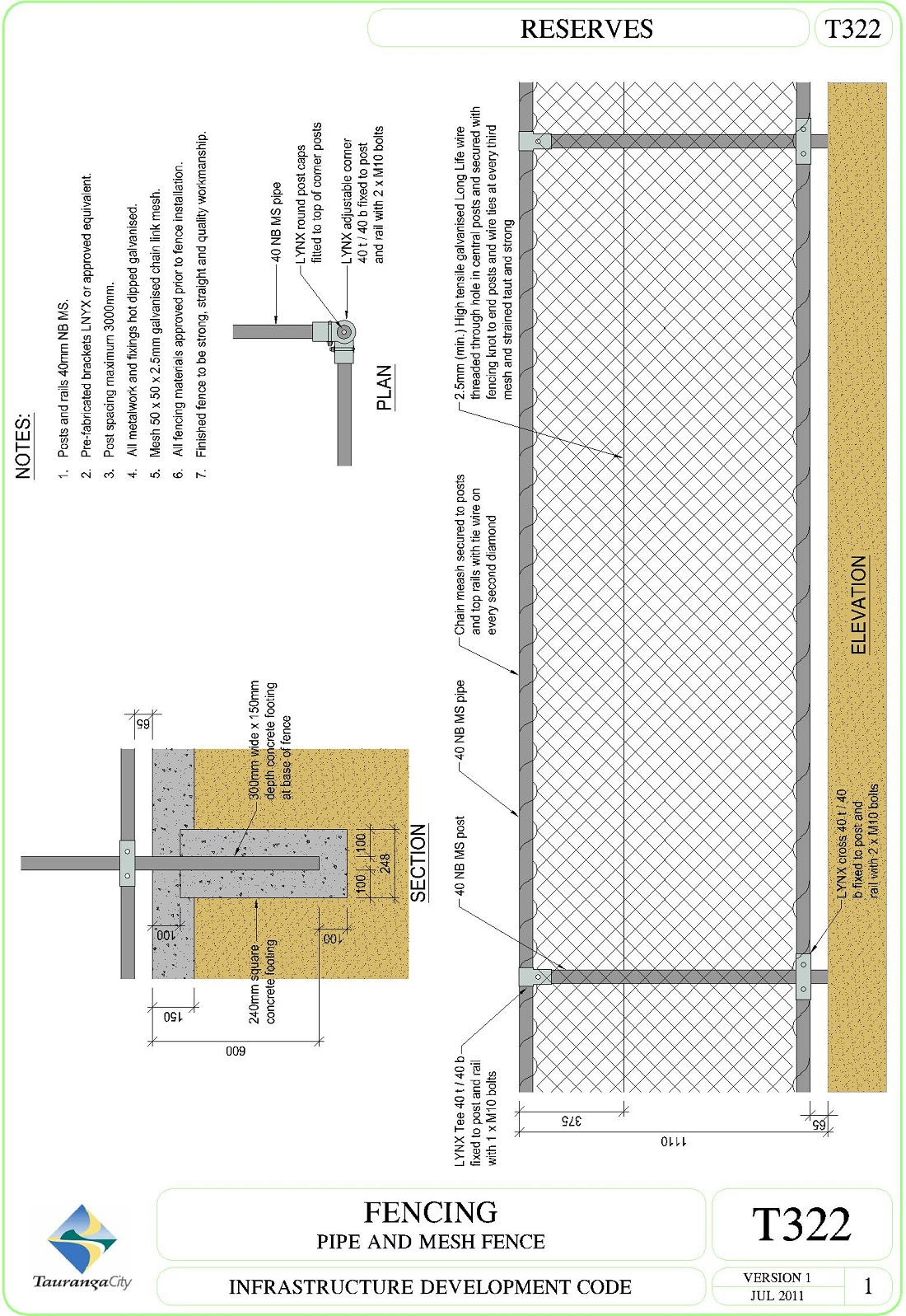 Fencing - Pipe and Mesh