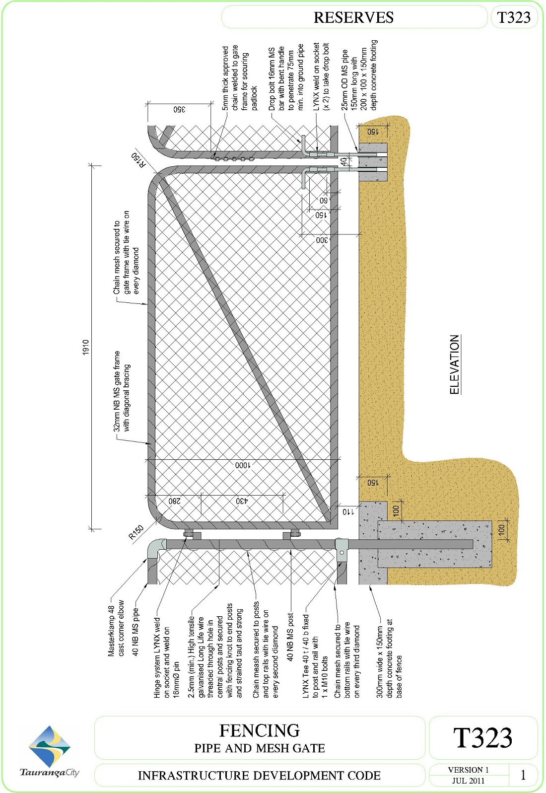 Fencing  - Pipe and Mesh Gate