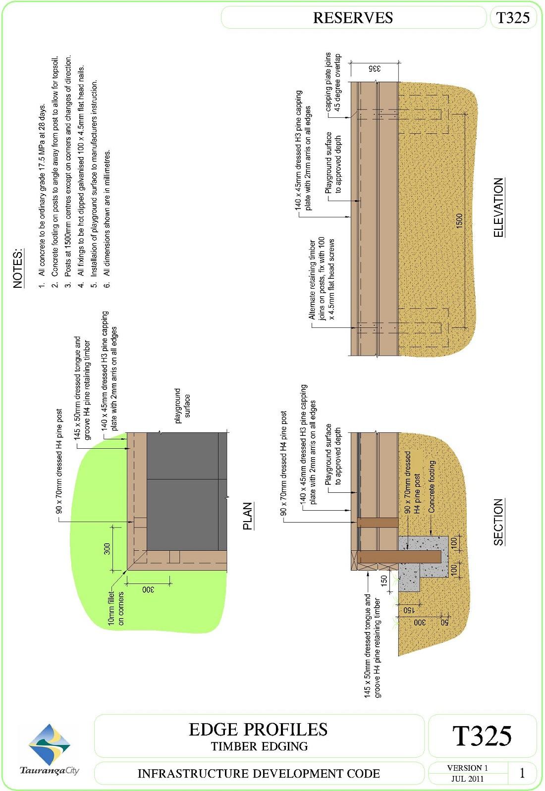 Edge Profiles - Timber Edging