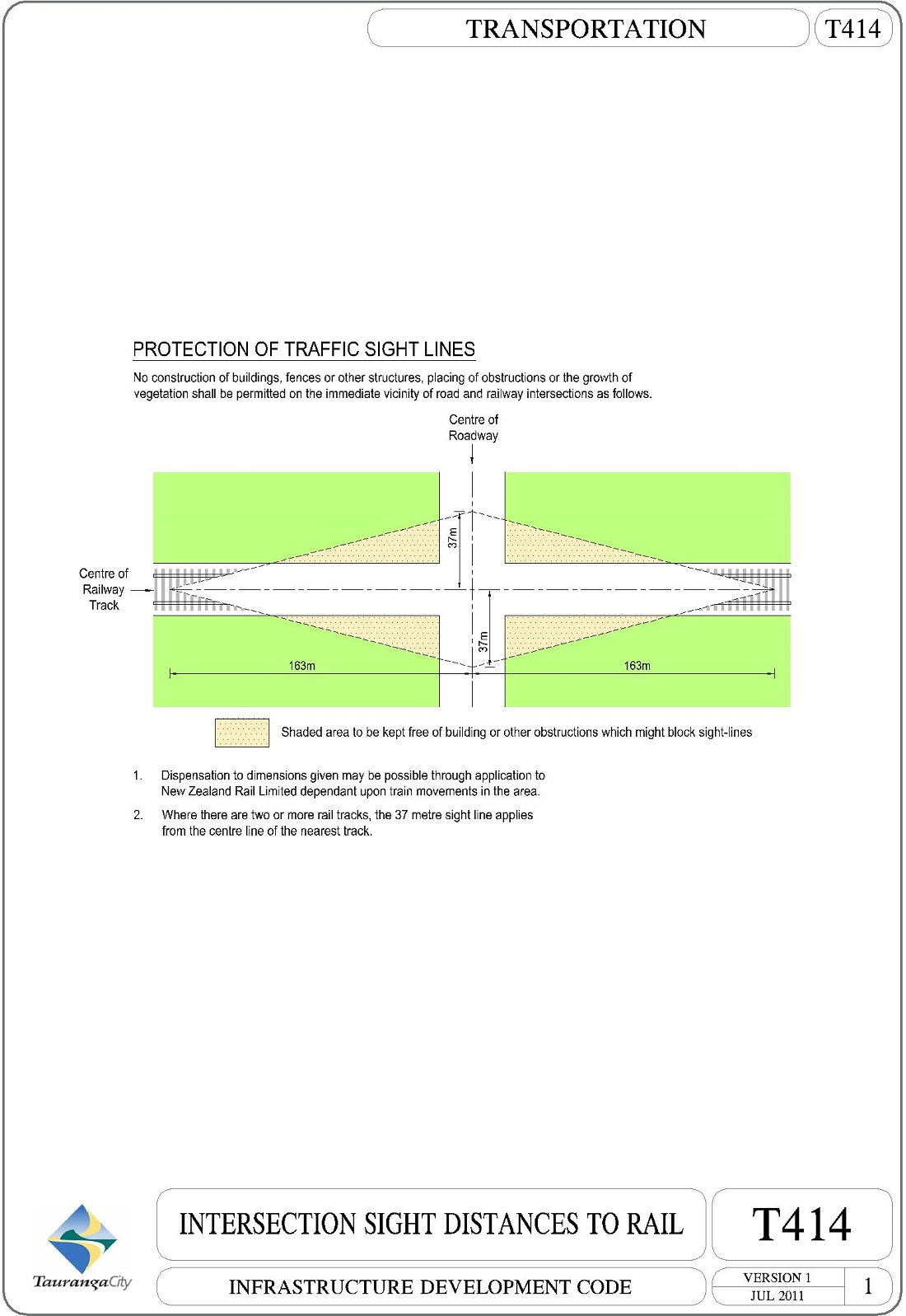 Intersection Sight Distances
