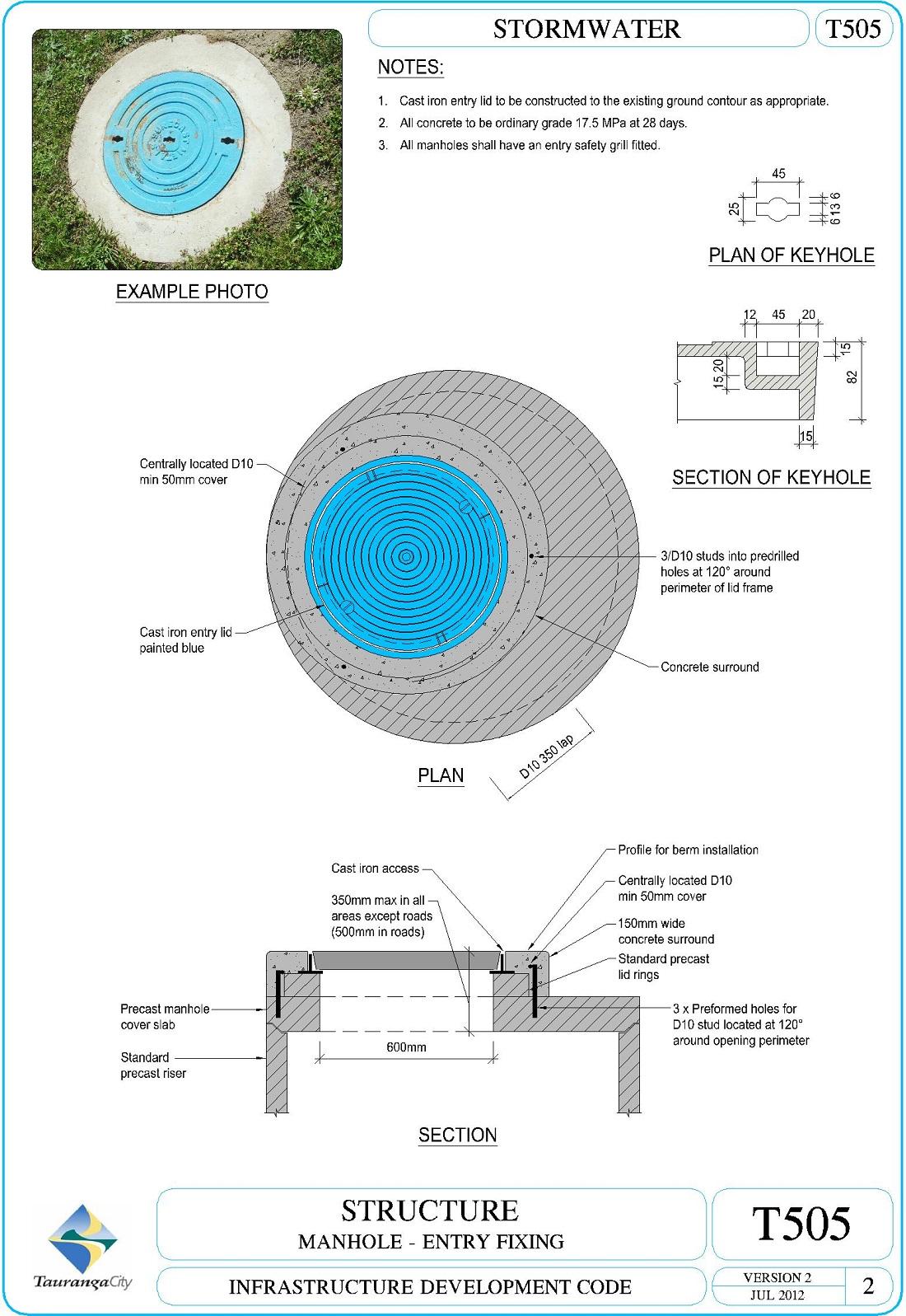 Manhole - Entry Fixing
