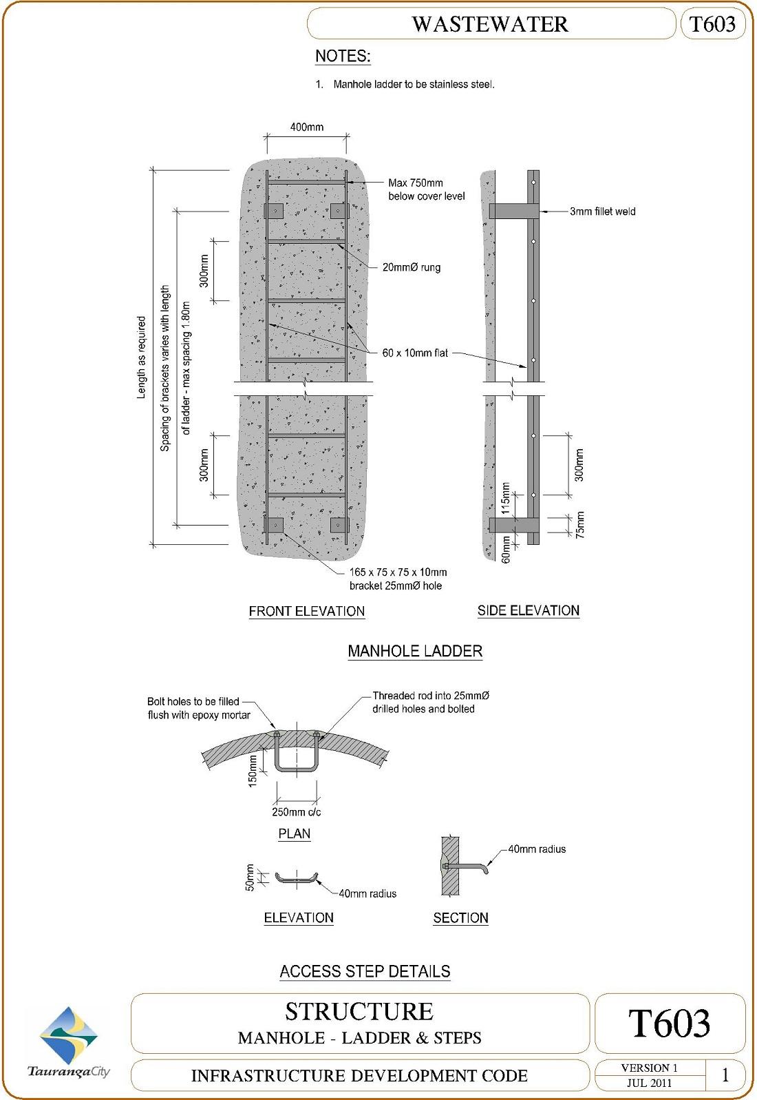Manhole - Ladder and Steps