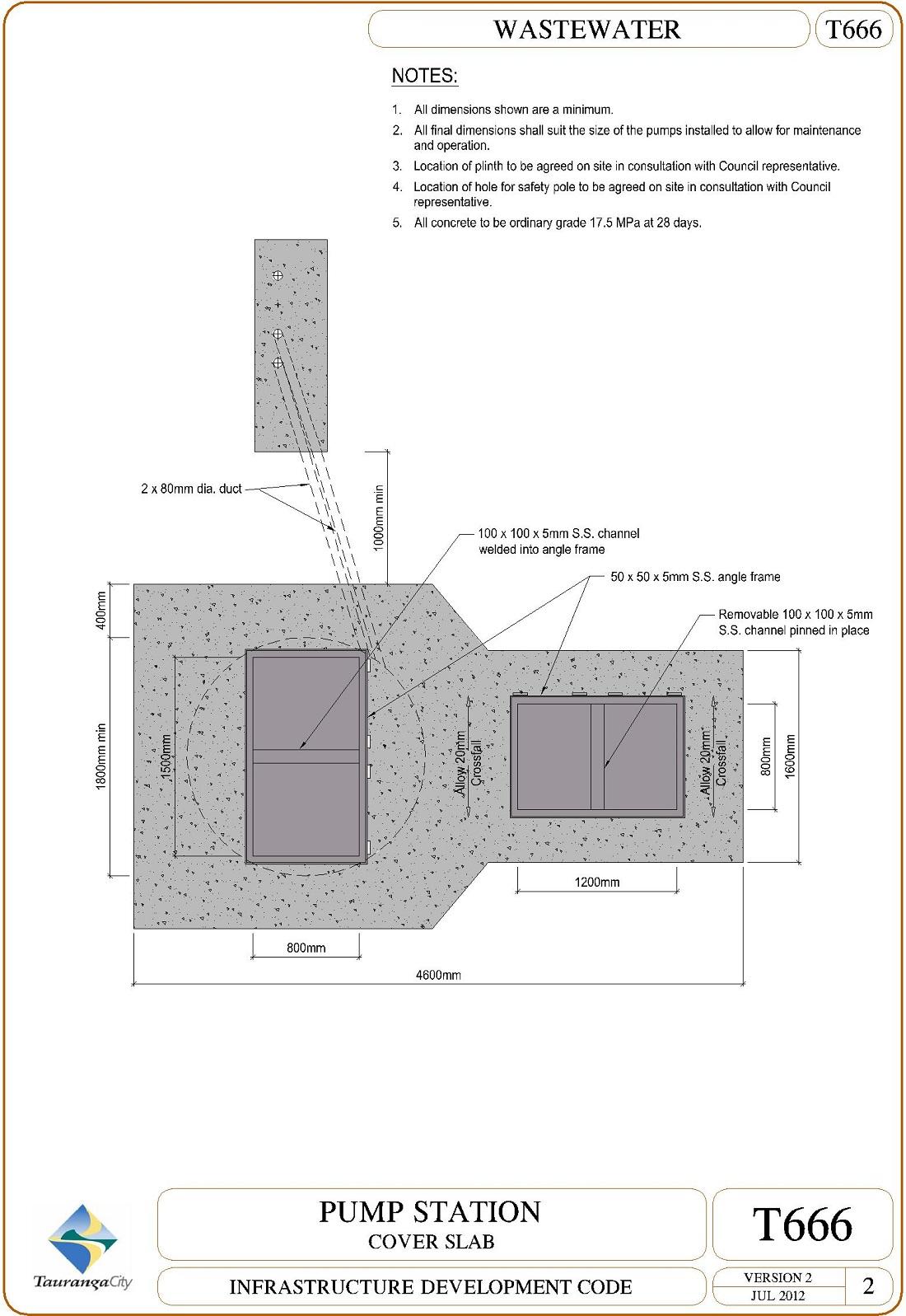 Pump Station - Cover Slab