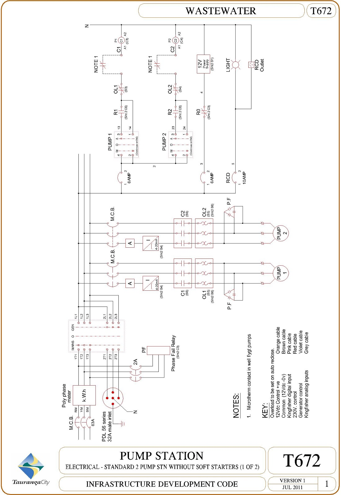 Pump Station - Electrical - Standard 2 Pump Stn Without Soft Starters (1 of 2)