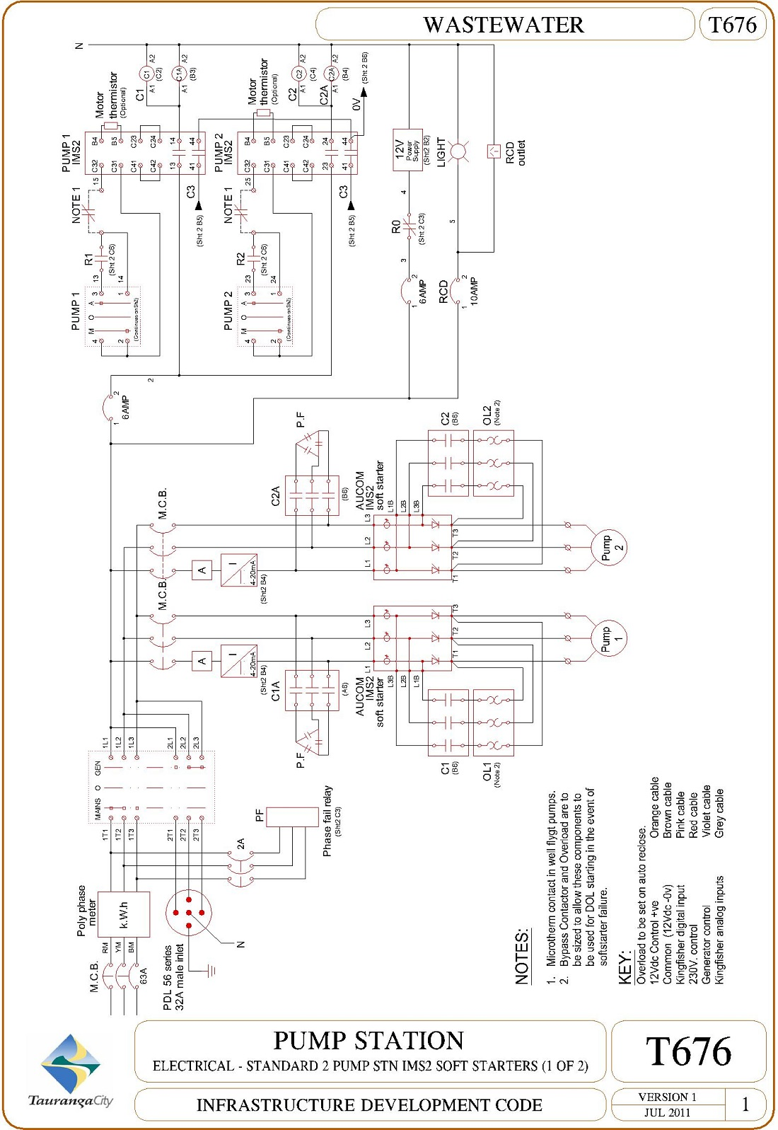 Pump Station - Electrical - Standard 2 Pump Stn IMS2 Soft Starters (1 of 2)