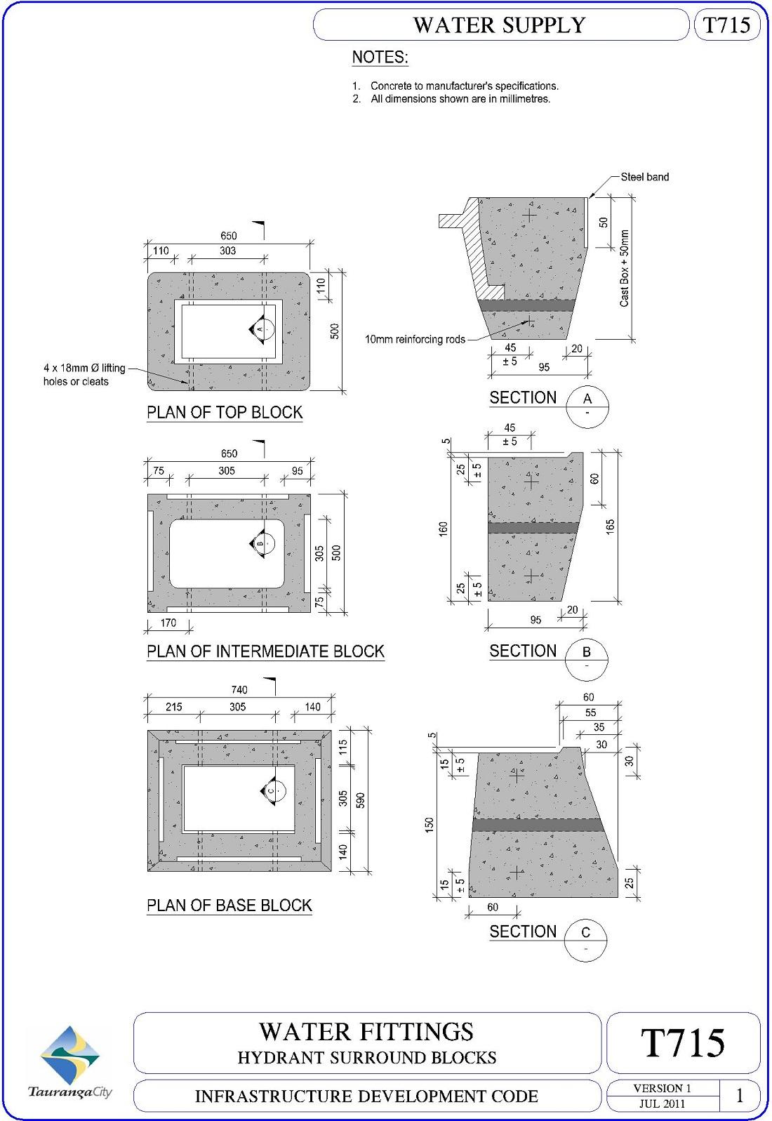Hydrant Surround Blocks
