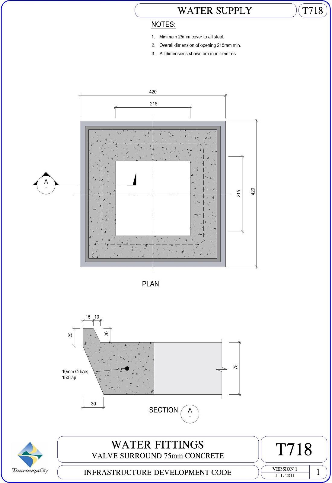 Valve Surround 75mm Concrete