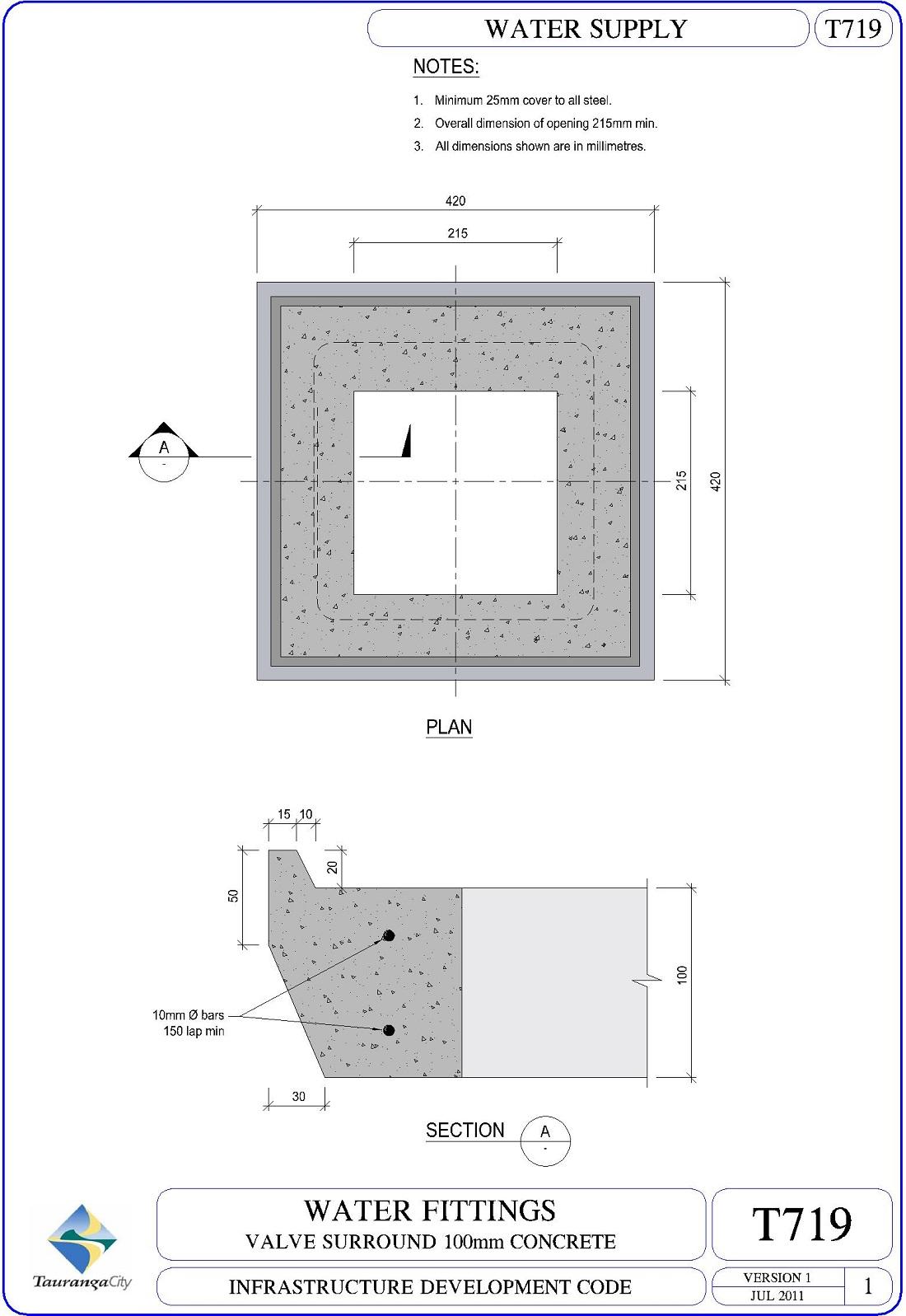 Valve Surround 100mm Concrete