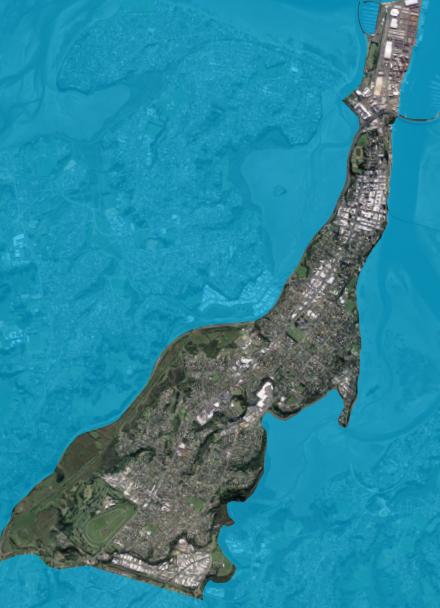 Map of Te Papa Peninsula