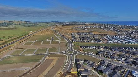 Te Okuroa Drive aerial