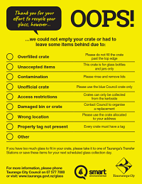 Yellow sticker for glass crates