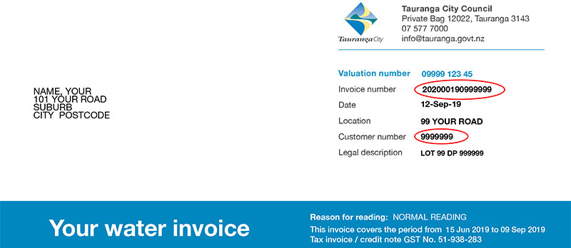 Water Invoice