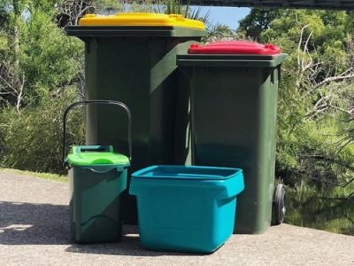 Planned service recycling bins